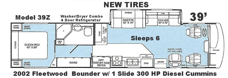 Bounder floor plan