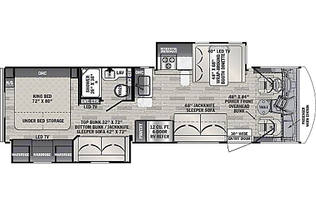 Forest River 32' FR3 Blue print view
